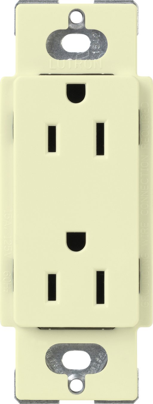 Lutron CARS-15-TR-AL DIMMING RECEPTACLE, Almond