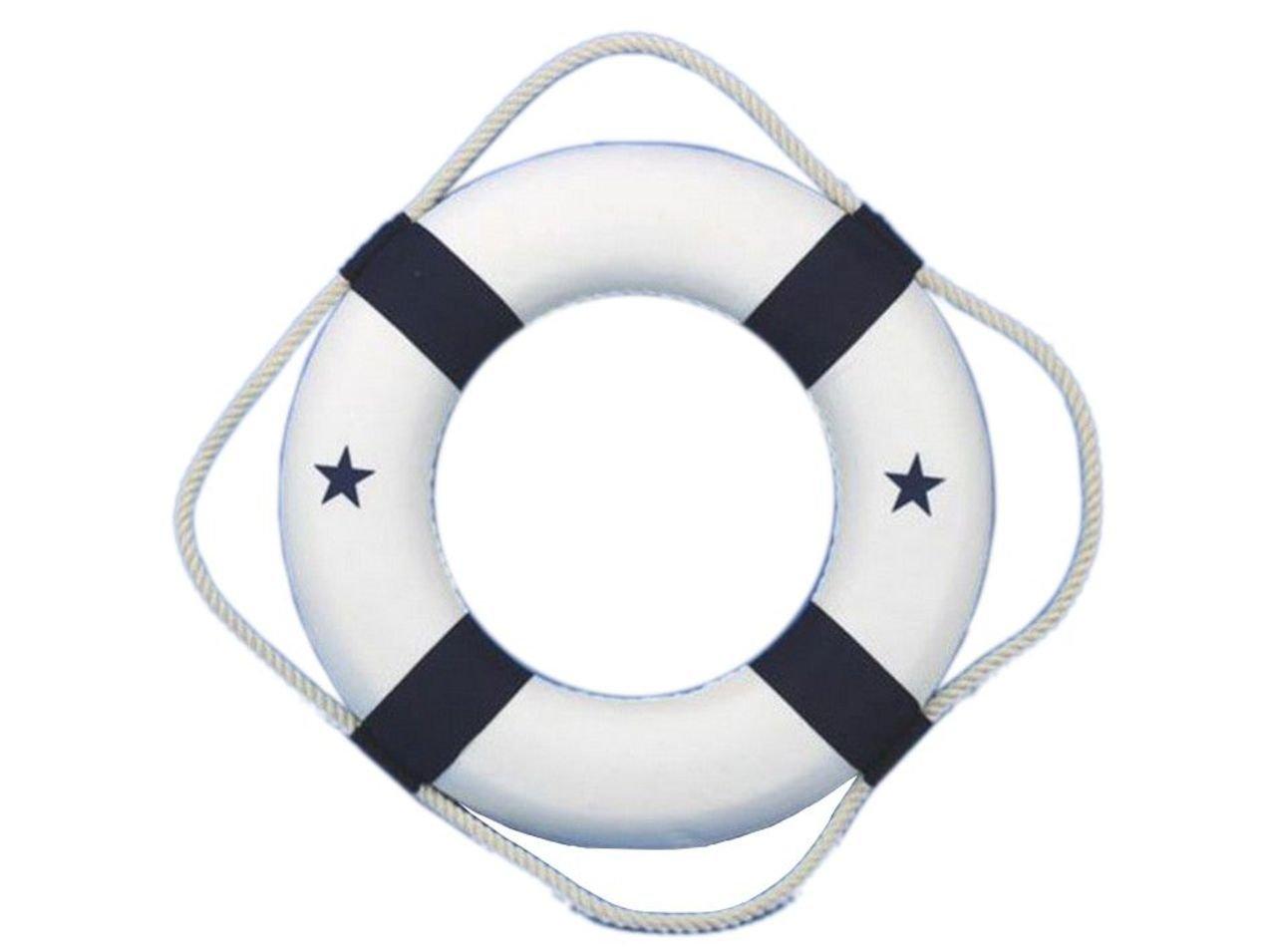 "Hampton Nautical  Decorative Life Ring New Lifering, 6"", Blue"
