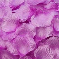 Magik 1000~5000 Pcs Silk Flower Rose Petals Wedding Party Pasty Table Decorations, Various Choices (1000, Warm Purple)
