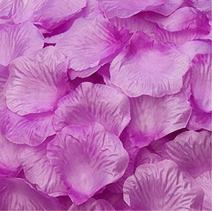 Magik 1000~5000 Pcs Silk Flower Rose Petals Wedding Party Pasty Table Decorations, Various Choices (1000, Warm Purple)