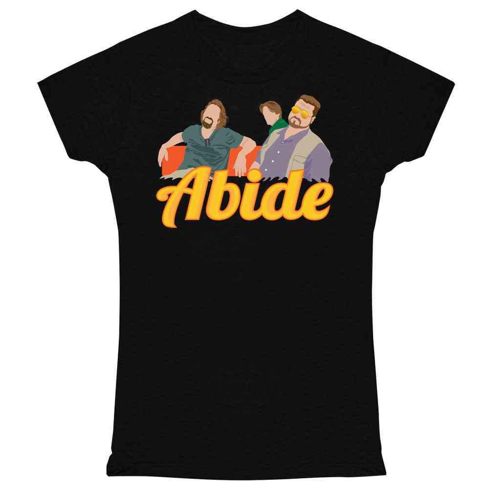 Pop Threads The Dude Abides Minimalist Graphic Tee T Shirt for Women