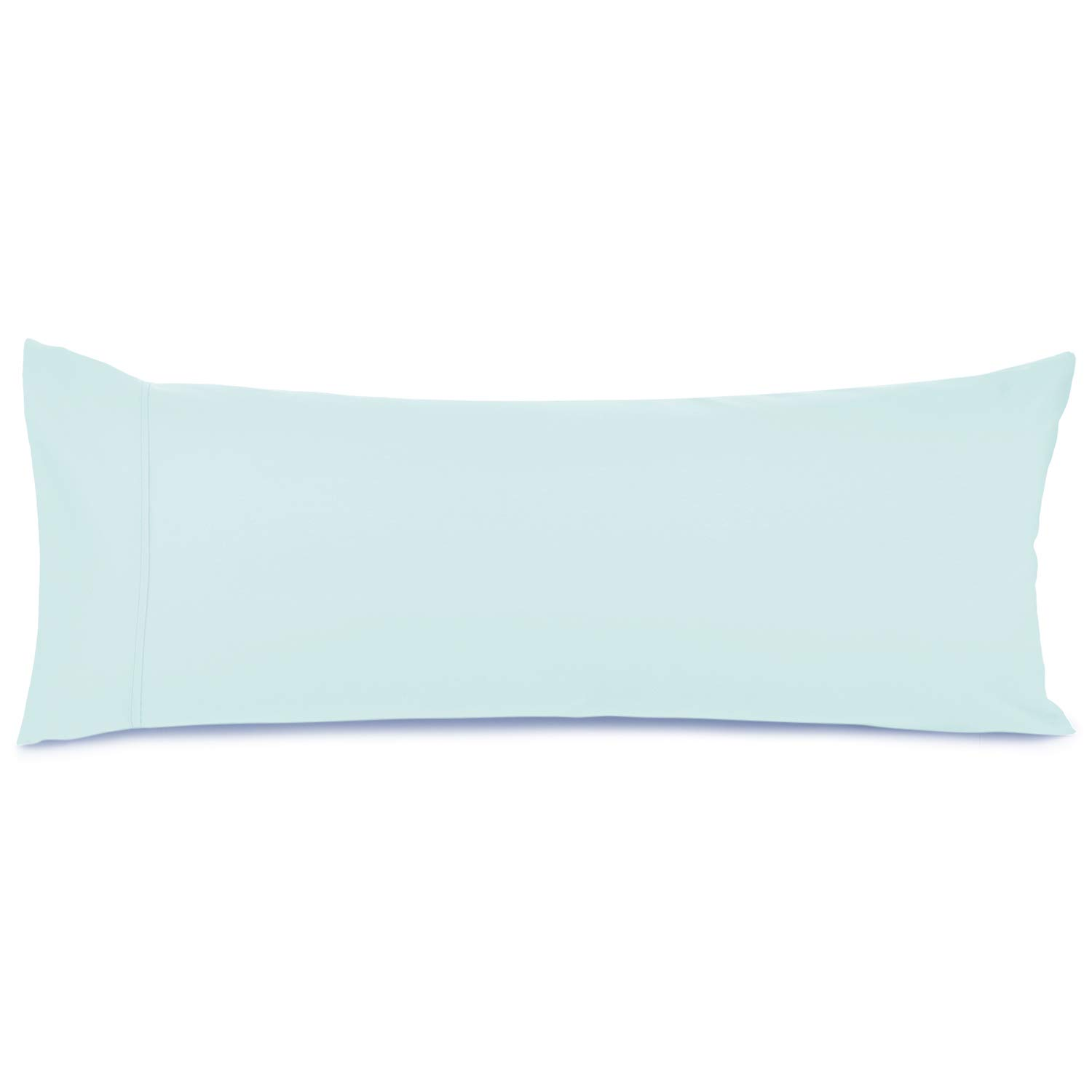 """Nestl Bedding Body Pillow Case - Double Brushed Microfiber Hypoallergenic Pillow Covers - 1800 Series Premium Bed Pillow Cases, 20""""x54"""" - Light Baby Blue"""