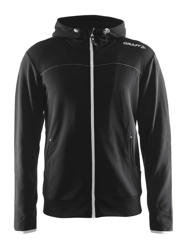 Craft Mens Leisure Full Zip Training Athletic Hooded Jacket