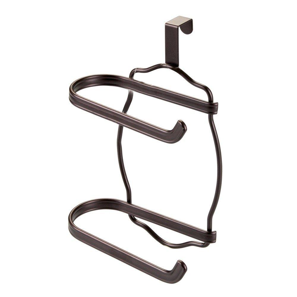 InterDesign York Lyra Over Tank Toilet Paper Holder – 2 Roll Storage for Bathroom, Bronze