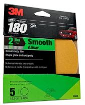 3M Sanding Disc with Stikit Attachment, 31439, 6 in, 180 grit, 5 discs per pack