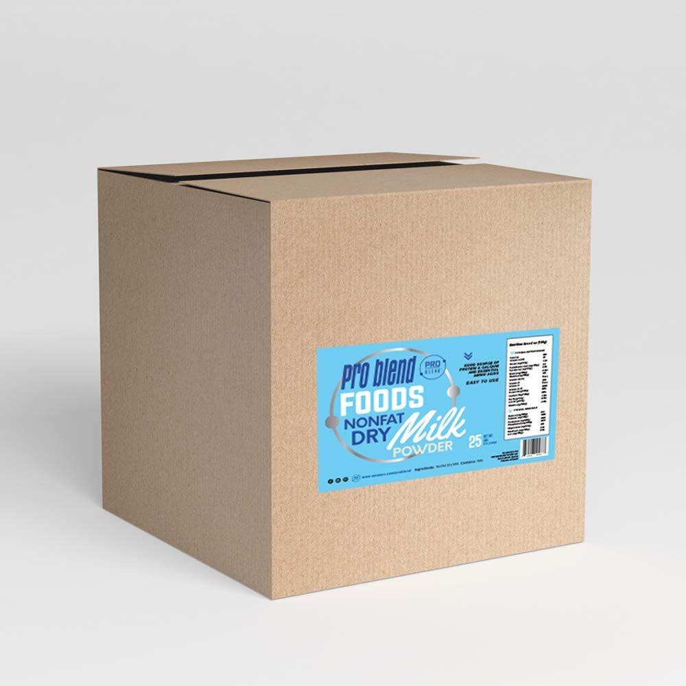 Non-Fat Instant Dry Milk Powder - Non-GMO, Hormone Free, Great for Bulk Storage (25 Pound)
