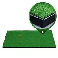 Sibosen Dual Surface Turf Golf Practice Hitting Mat, Driving Chipping Golf Grass Mat w/Tee, Golf Hitting Pad for Home Use, Backyard Outdoor Indoor Golf Mats
