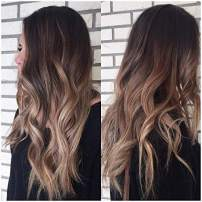 Full Shine U Part Wigs With Clips 20 Inch Long Straight U Wigs Dip Dyed Ombre Color 2 Fading To 6 And 18 Ash Blonde Balayage Human Hair Half Wigs 150 Gram Real Hair Wigs For Women