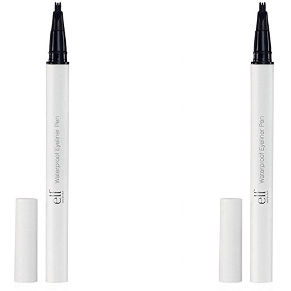 e.l.f. Waterproof Eyeliner Pen, Black, 0.06 Ounce, 2 Pack