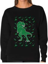 TeeStars - Holiday Dinosaur Chaos Ugly Christmas Women Sweatshirt
