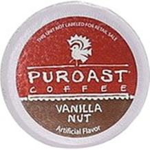 Puroast Low Acid Coffee Natural Vanilla Nut, 72 Count