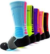 Basketball Socks 5 Pack Athletic Crew Sport for Boy Girl Men Women,A3,Medium