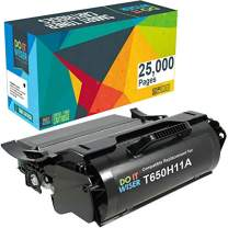 Do it Wiser Remanufactured Toner Cartridge Replacement for Lexmark T650H11A T650 T652 T650DN T650N T652DN T652N T654DN - 25,000 Pages High Yield