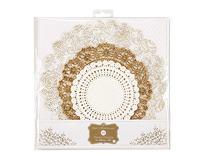 Talking Tables 24-Pack Metallic Party Porcelain Gold Doilies