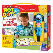 Educational Insights Hot Dots Jr. Let's Master Pre-K Reading Set, Homeschool, 2 Books & Interactive Pen, 100 Math Lessons, Ages 3+