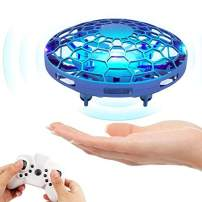Hand Operated Drone for Kids, Mini Flying Toys Drone with Remote Control ,Hands Free Drones Flying Ball Toys for Boys and Girls, Beginner UFO Hand Drone Sensor Infrared Helicopter