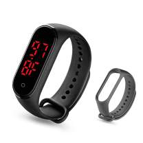 eYotto Body Temperature Watch, Wrist Thermometer Silicone Rubber Bracelet Digital Sports Watch with Waterproof Time Tracker Temperature Measurement for Students Women Men Kids+ Watch Band
