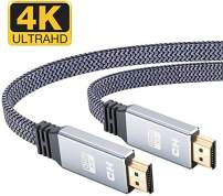 4K Flat HDMI Cable 6.6FT, Highwings 2019 Newest HDMI 2.0 Cable Ultra high Speed Flat hdmi to hdmi 18Gbps 4K@60Hz fit Fire TV, 4k TV,3D, Ethernet,Video Return UHD 3860p,HD 1080p,Xbox Playstation/PS3