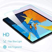 PERFECTSIGHT Screen Protector for iPad Pro 12.9 Inch (2020 and 2018 Model), Anti Blue Light Filter Anti Fingerprint Tempered Glass [1 Pack]
