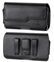 for ANS H450R, Premium Leather AGOZ Pouch Case Holster Cover with Belt Clip & Loops and Magnetic Closure