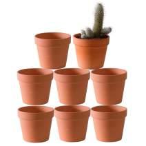 4.6 Inch Terracotta Clay Pots Pack of 8 - Mini Hand Craft Nursery Plant Pot Succulent Cactus DIY Pottery Planter Home Garden Windowsill Decoration