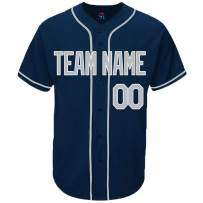Pullonsy Navy Custom Baseball Jersey for Men Women Youth Throwback Embroidered Name & Numbers S-8XL - Design Your Own