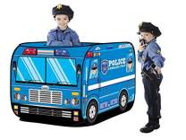Blue Police Car Pop Up Play Tent - Outdoor Playhouse for Toddlers Boys and Girls (Blue Police car)