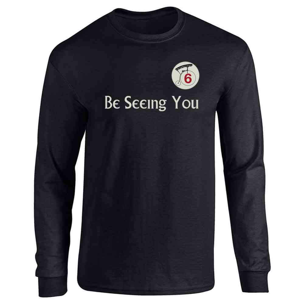 Be Seeing You Number 6 Cult Halloween Costume Full Long Sleeve Tee T-Shirt