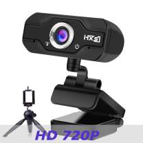 720P HD Computer Webcam, NP HD PC Webcam USB Mini Computer Camera Built-in Microphone, Flexible Rotatable Clip, for Laptops, Desktop and Gaming, Black