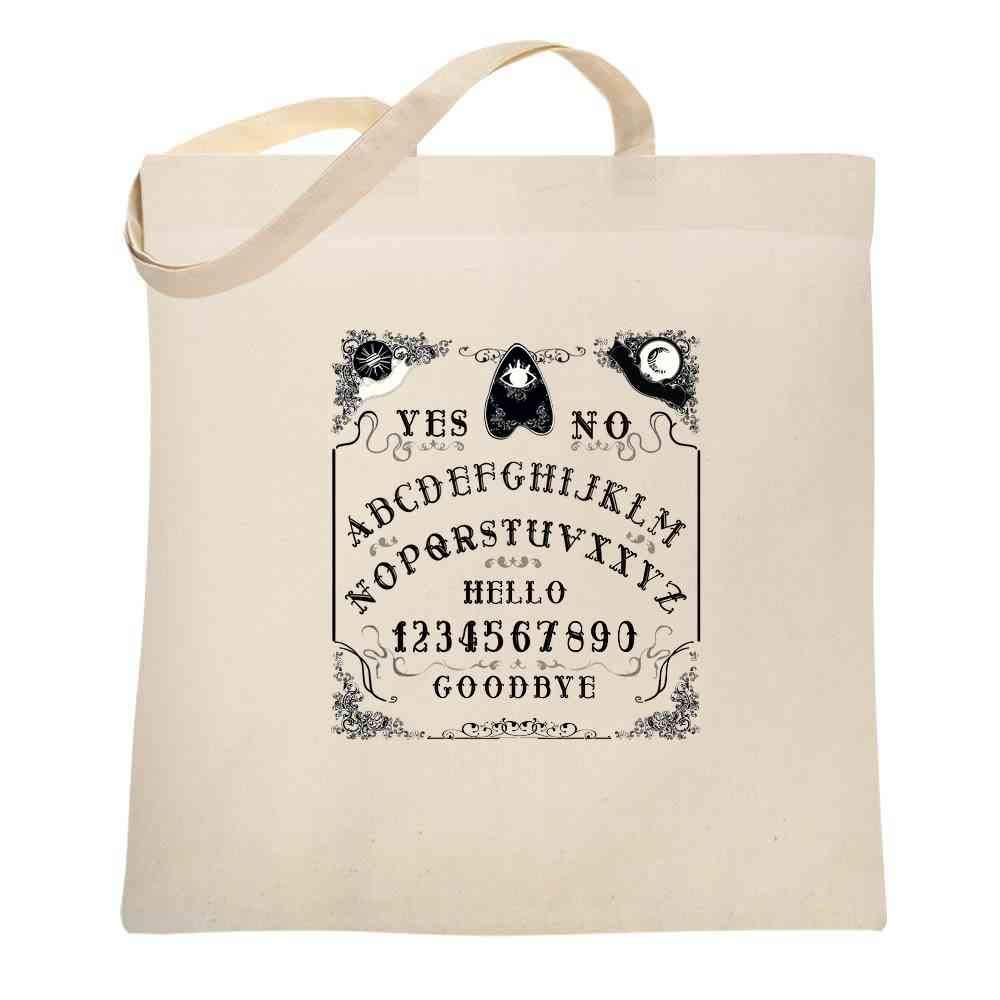Ouija Board Seance Spirit Board Design Costume Large Canvas Tote Bag Women