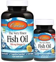 Carlson - The Very Finest Fish Oil, 700 mg Omega-3s, Norwegian, Sustainably Sourced, Lemon, 120+30 soft gels