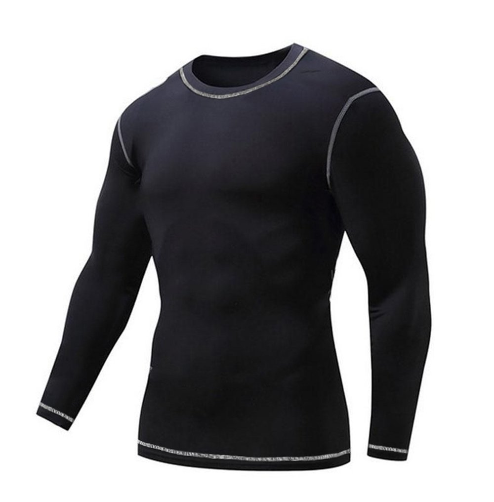 COOFANDY Men's Long-Sleeve Compression Shirts Dry Fit Base Layers Sports Top T-Shirts