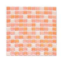 Self Stick Backsplash Peel and Stick 3D Wall Tile PVC Backsplash for Kitchen Bathroom Blue Light Blue Color(1 Tiles)