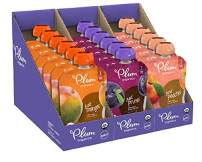 Stage 1, Organic Baby Food, Variety Pack, Prunes, Mangos & Peaches, 3.5 Ounce Pouches (Pack of 18) (Packaging May Vary)