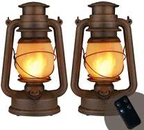Yinuo Candle Flame Light Vintage Lantern, Flickering Camping Lantern Tent Light with Two Models LED Night Lights with Battery Operated