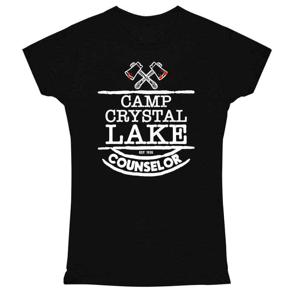 Camp Crystal Lake Counselor Horror Movie Vintage Graphic Tee T Shirt for Women