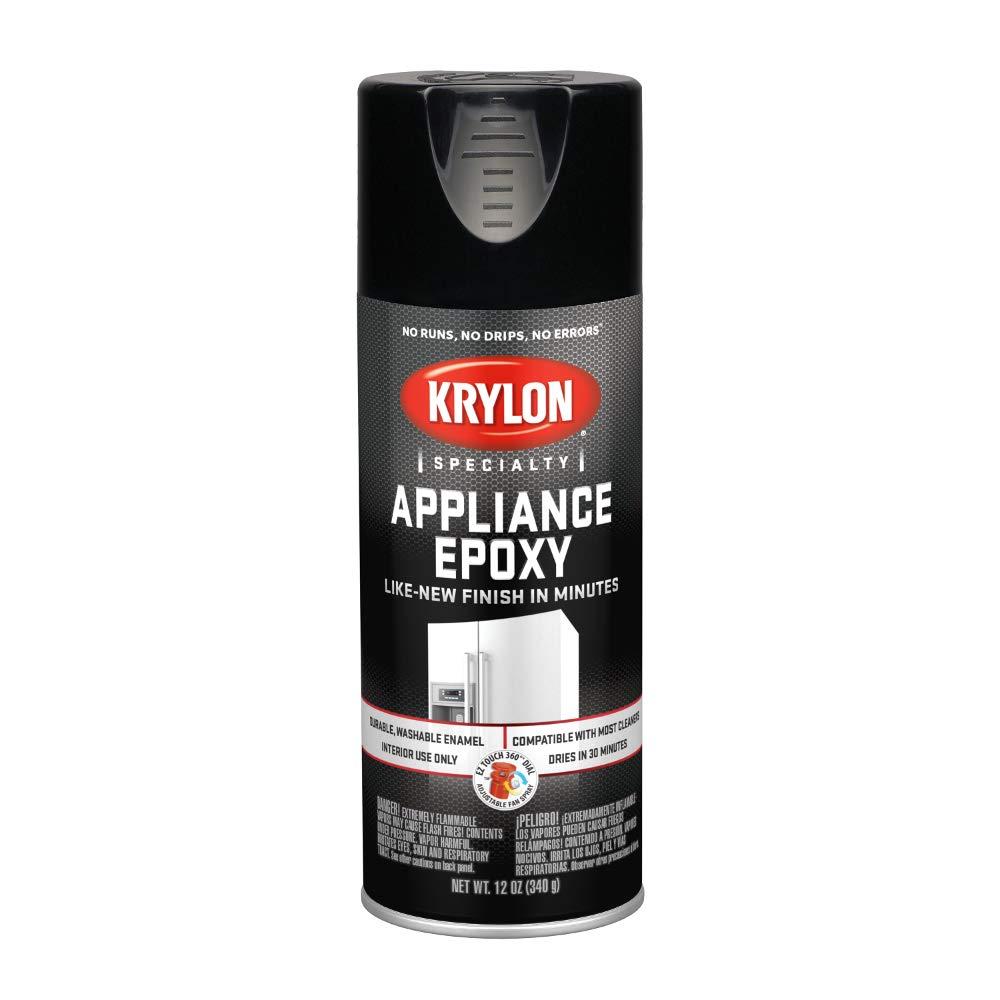 KRYLON K03206007 Appliance Epoxy Paint, Aerosol, 12 Oz., Black - 1028222