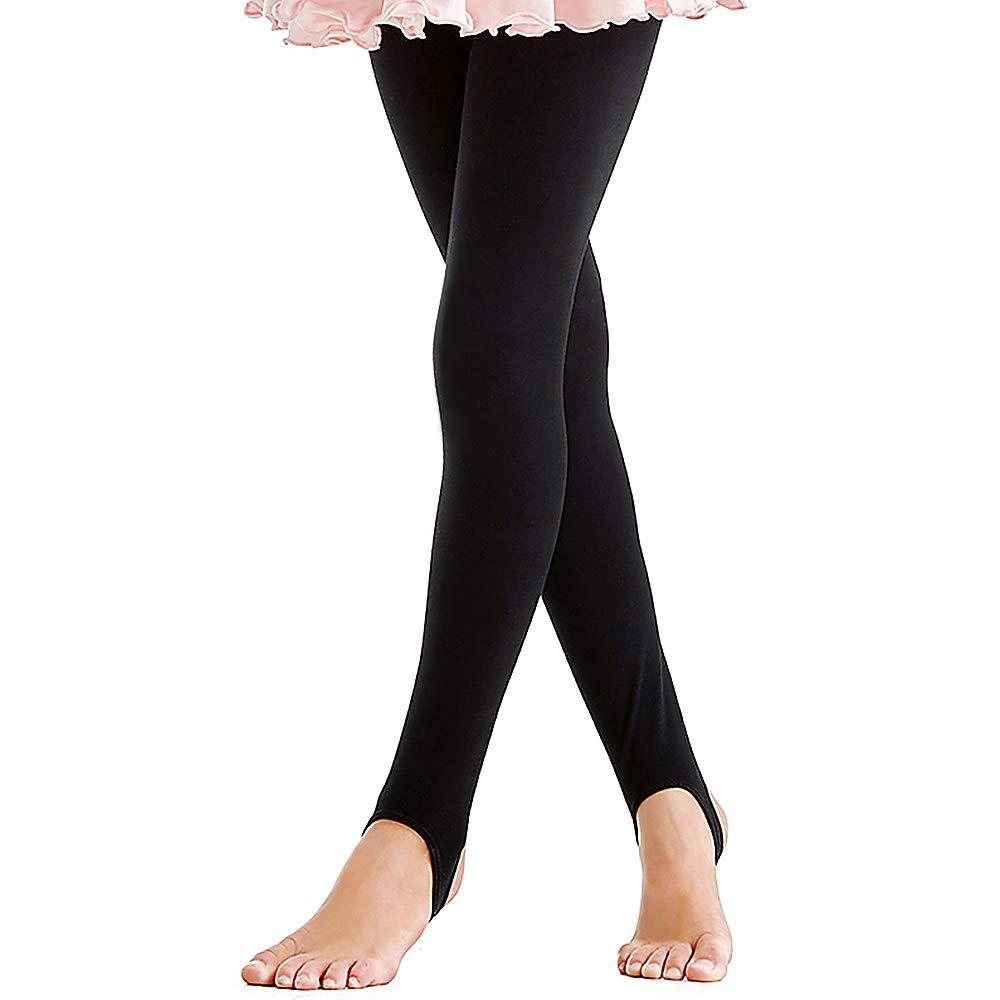 BAOHULU Girls Leotards Ballet Dance Tutu Dress Ruffle Short Sleeve Activewear 3-14 Years