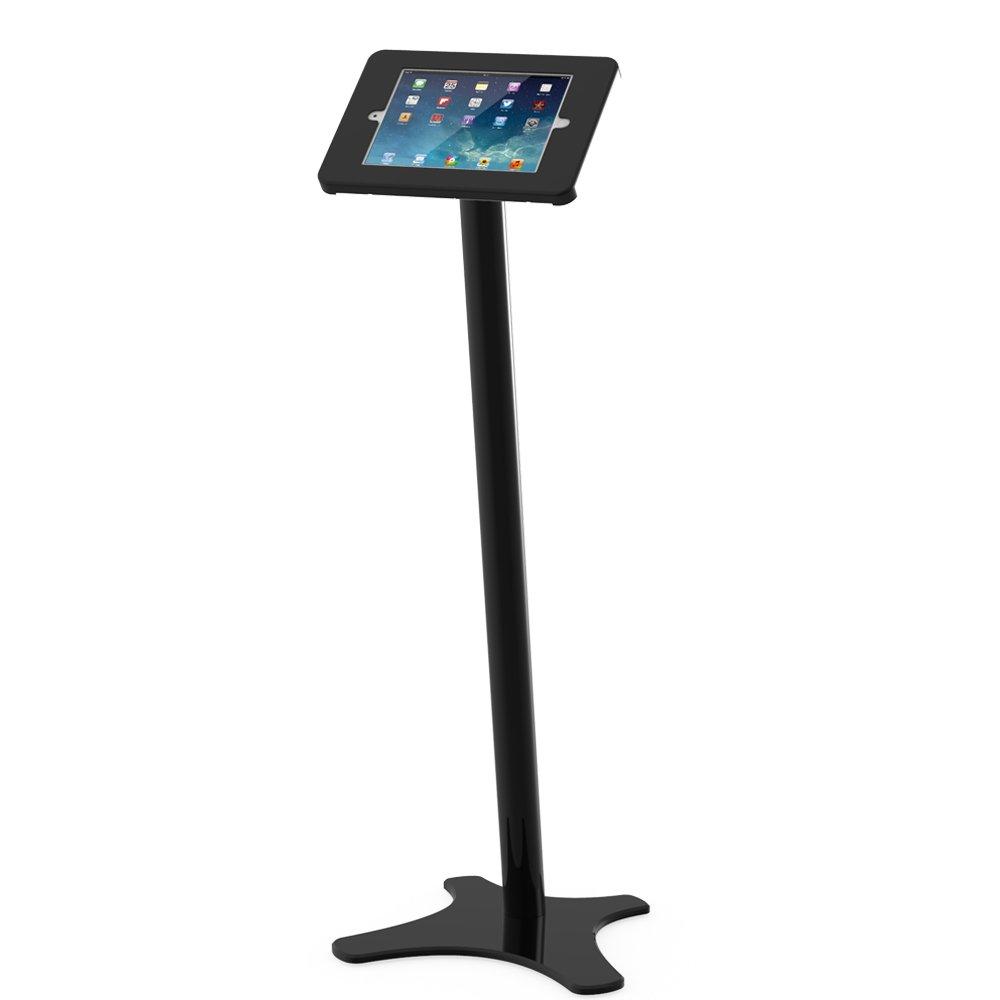 Beelta iPad Floor Stands Holders -360 Swivel Enclosure for iPad Pro 9.7,Air 2,Air 1,iPad 5th/6th,Anti-Theft,Key Lock,Metal,Black,BSF301B