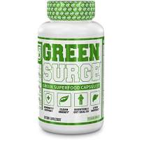 Green Surge Green Superfood Capsules - Keto Friendly Greens Supplement w/Spirulina, Wheat & Barley Grass - Organic Greens Plus Probiotics & Digestive Enzymes - 120 Veggie Pills…