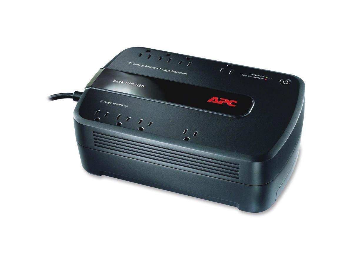 APC UPS, 550VA UPS Battery Backup Surge Protector, BE550G Backup Battery, Dataline Protection, Back-UPS Uninterruptible Power Supply