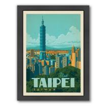 """Americanflat""""Taiwan Taipei Black Frame Print by Anderson Design Group 9"""" H x 11"""" W x 1"""" D"""