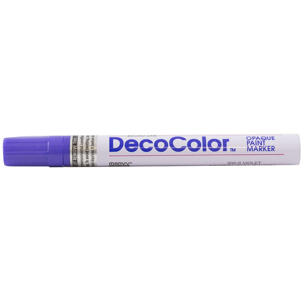 JAM PAPER Broad Point Opaque Paint Markers - Violet - Sold Individually