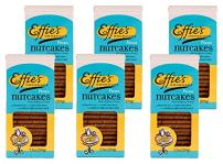 Effie's Nutcakes with Pecans, All-Natural Homemade Lightly Sweetened Gourmet Biscuits, For Real Food Lovers Craving Homemade Taste (6 Pack)