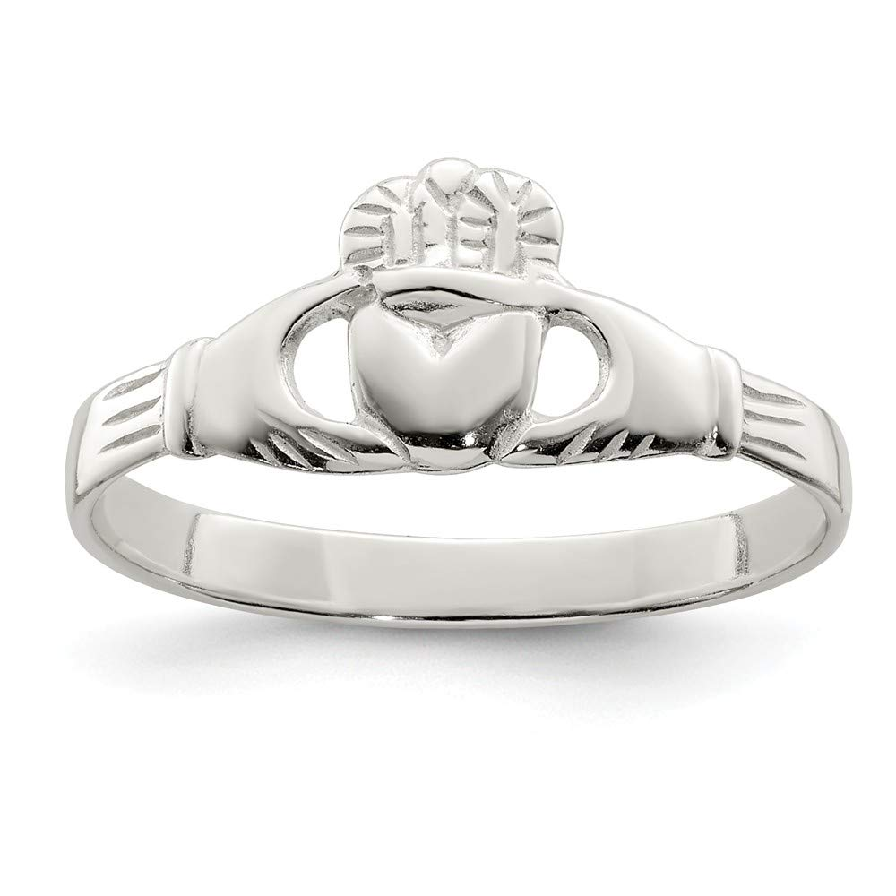 925 Sterling Silver Irish Claddagh Celtic Knot Band Ring Fine Mothers Day Jewelry For Women Gifts For Her