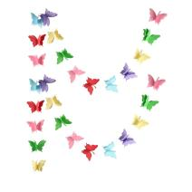 Zilue Butterfly Banner Decorative Paper Garland for Wedding, Baby Shower, Birthday & Theme Decor 110 Inches Long Set of 2 Pieces Mix Color