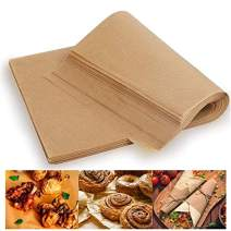 Unbleached Parchment Paper Baking Liners Sheets, 100 Pcs Precut 10x14 Inches Non-stick Wax Paper for Cook, Grill, Steam, Pans, Air Fryers, Hamburger Patty Paper by FUNZON (Brown)