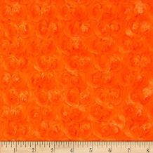 Shannon Fabrics Minky Rose Cuddle Fabric by The Yard, Orange