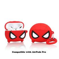 LKDEPO 3D Silicone Airpods Pro Case Protective Cover with Keychain, Cute Cartoon AirPods Pro Charging Case and Superhero Skin Compatible with AirPods Pro (2019 Release)