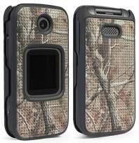 Alcatel Smartflip Case, Go Flip 3 Case, Nakedcellphone [Outdoor Camouflage] Tree Leaf Real Woods Camo Protective Snap-On Cover for Alcatel Go Flip 3, Alcatel Smartflip Phone (2019) 4052R/4052C/4052W